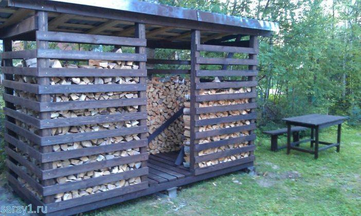 DIY Outdoor Firewood Rack-simple firewood rack