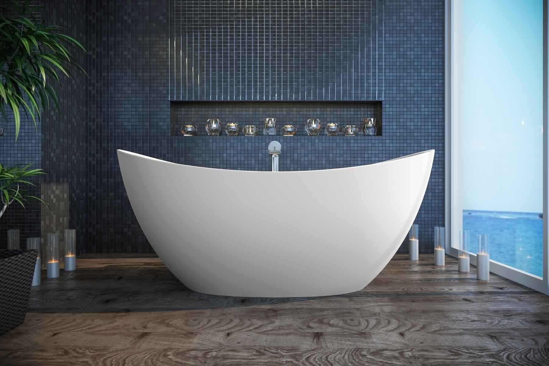 Smallest Bathtub Size -Slipper bathtub
