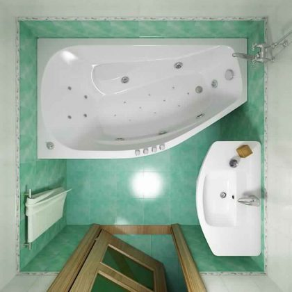 Smallest Bathtub Size-small square bathroom