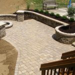 formal pattern stone patio