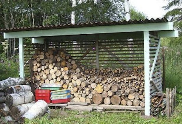 DIY Outdoor Firewood Rack-storage shed for firewood