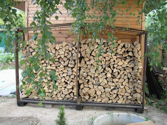 DIY Outdoor Firewood Rack-store firewood box