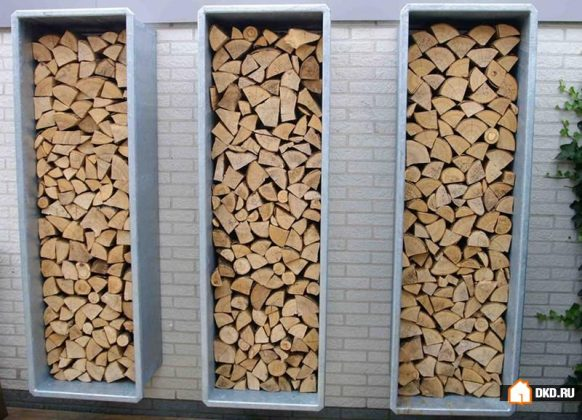 DIY Outdoor Firewood Rack-store firewood in style