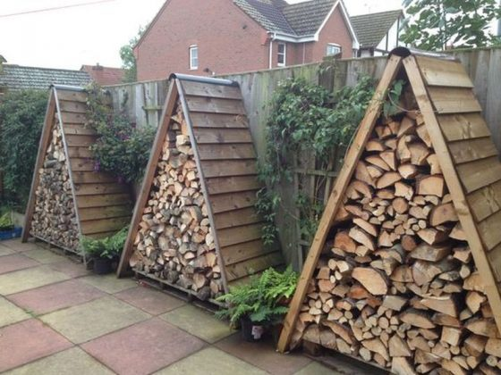 DIY Outdoor Firewood Rack-store firewood yard Decoration
