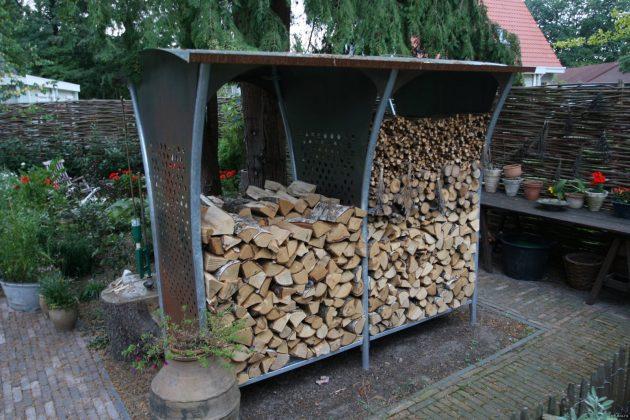 DIY Outdoor Firewood Rack stylish firewood rack