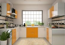 u shaped kitchen designs lighting