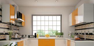 u shaped kitchen designs lighting
