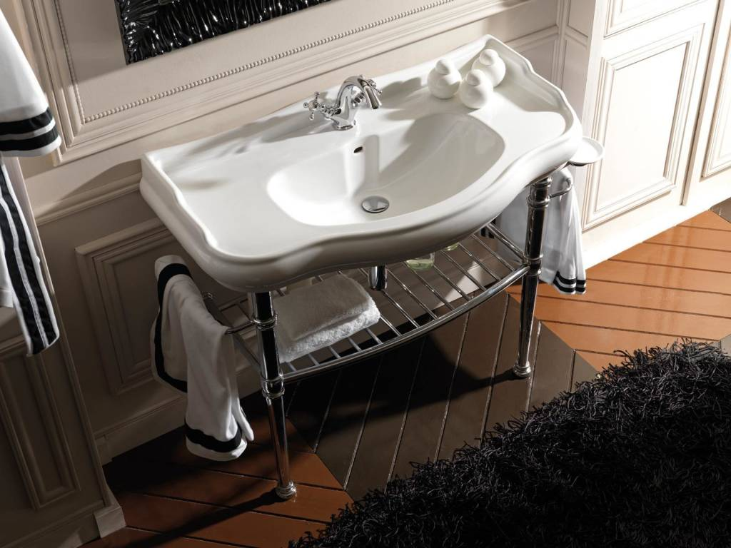 Rustic Bathroom Ideas-washsink classical style