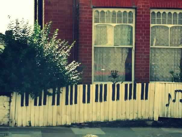 Privacy Fence Ideas-white fence piano