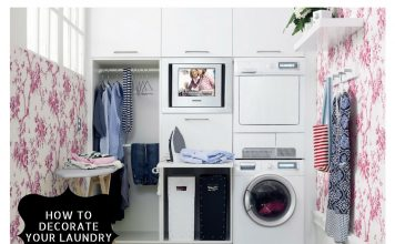 how to decorate laundry room easily