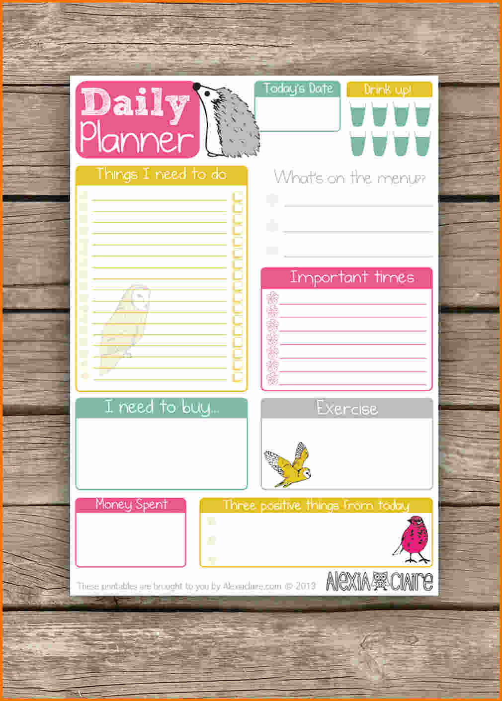 Daily Planner Printable - Daily Agenda Planner
