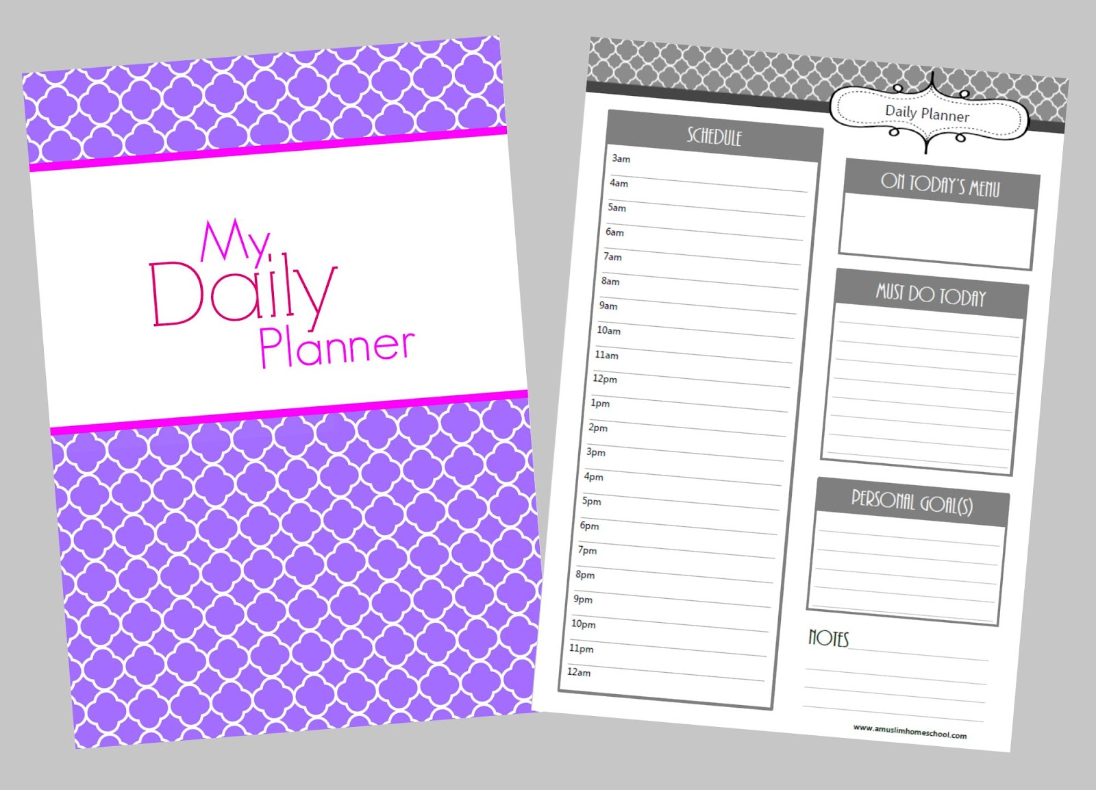 Daily Planner Printable - Daily Printable Schedule Template For Students and Teachers
