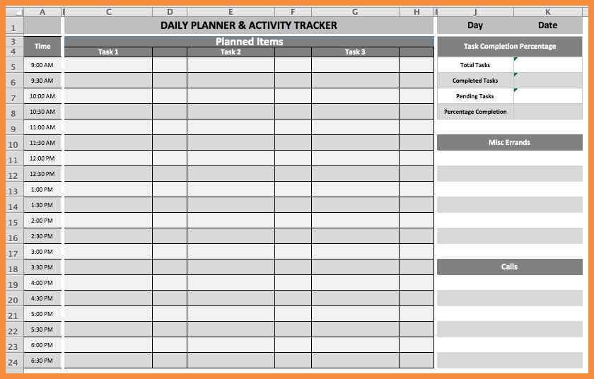Daily Planner Printable - Daily Task Organizer