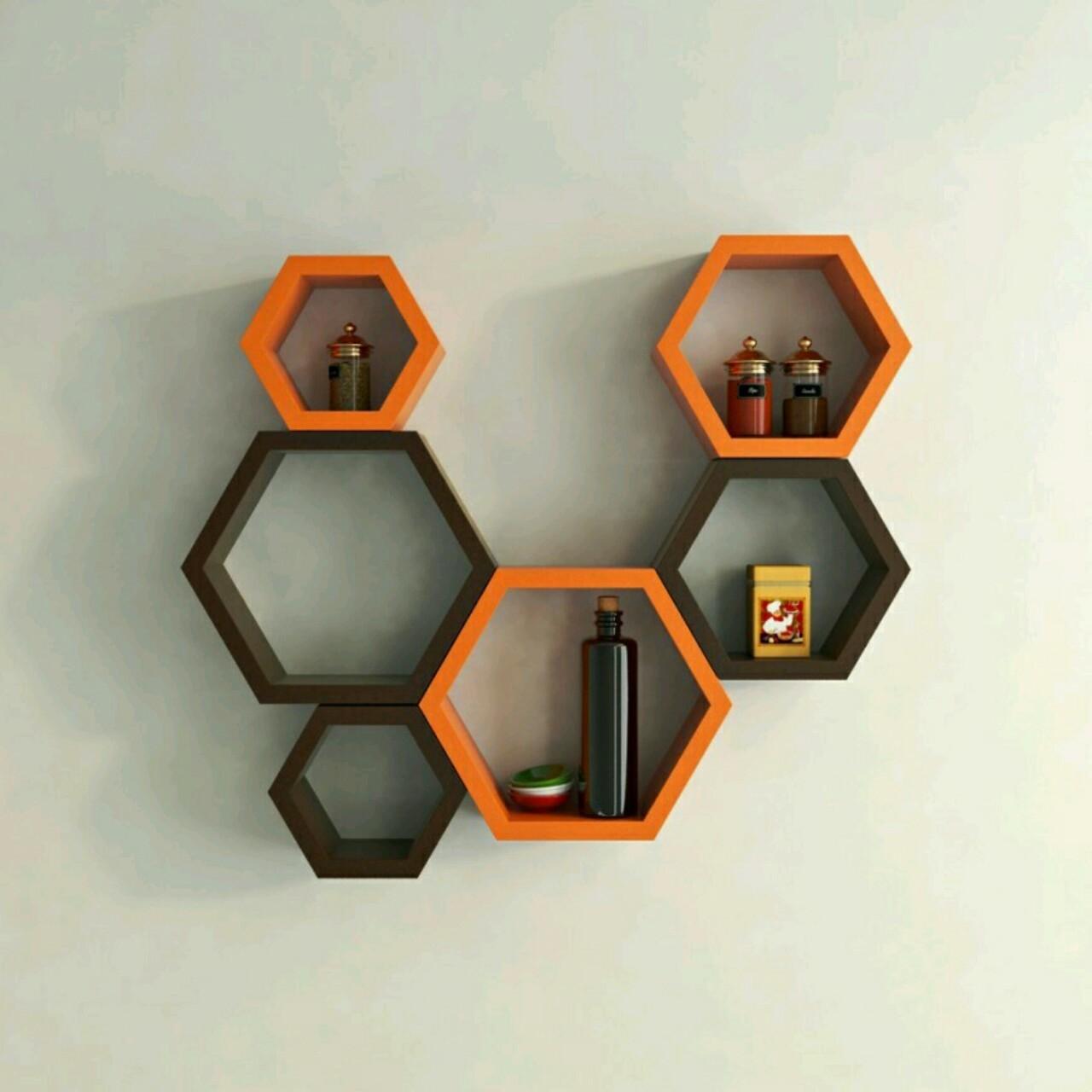 Hexagonal Wall Shelf - Handicrafts Original