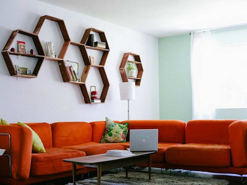 Hexagonal Wall Shelf - Harmonious form of honeycombs in your interior