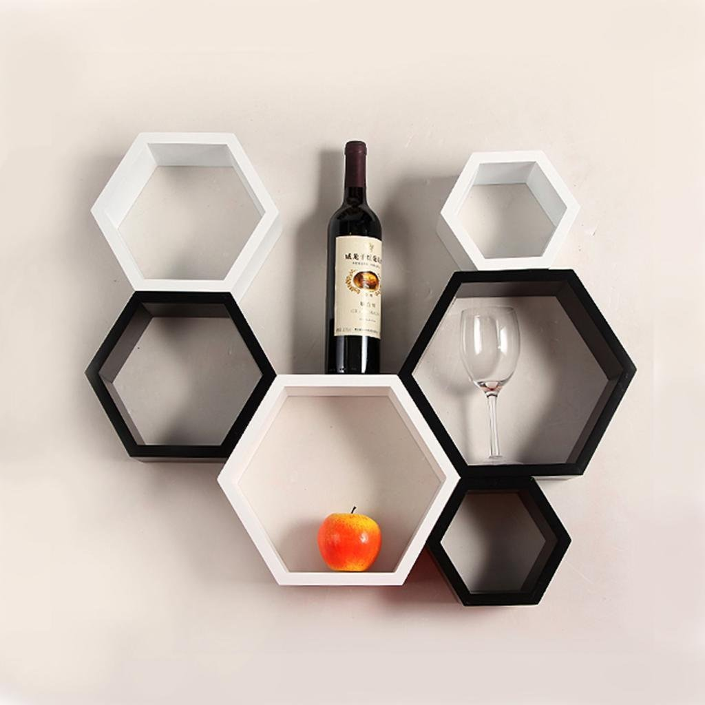 awesome wall mounted cubby storage contemporary bedroom | Hexagonal Wall Shelf Ideas 2018 | Decor Or Design