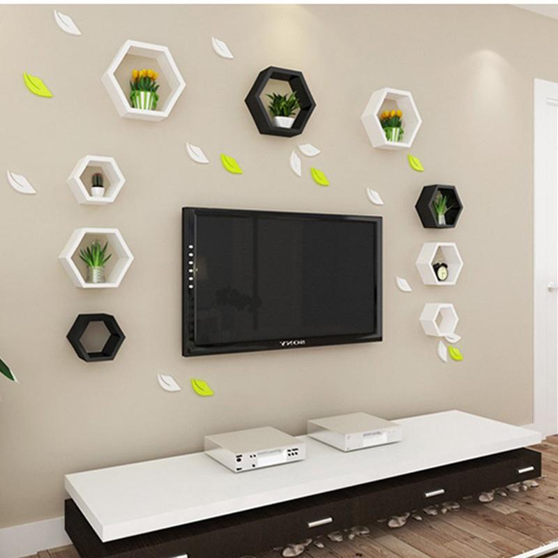 Hexagonal Wall Shelf - Home DIY decorative wall Floating