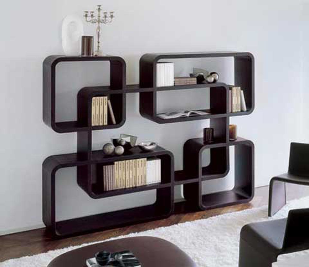 Hexagonal Wall Shelf - Interesting ideas for accommodation living room shelves
