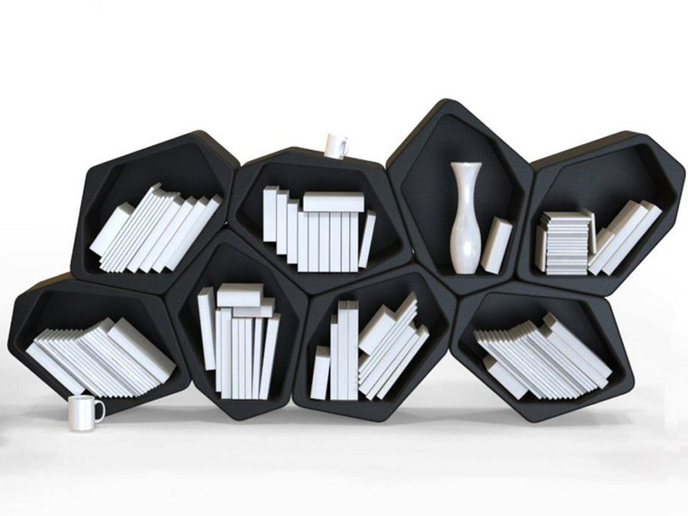Hexagonal Wall Shelf - Modular bookshelves