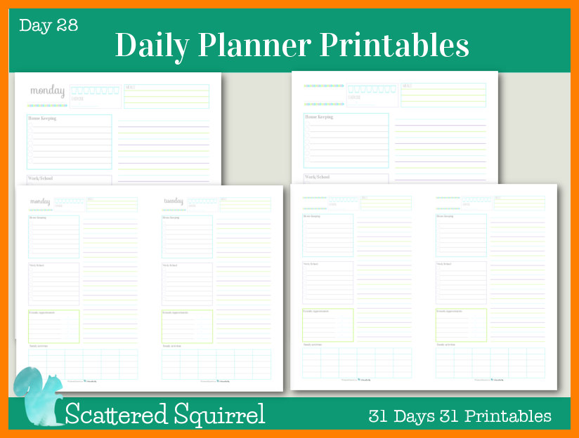 Daily Planner Printable - Obtaining a Daily Planner