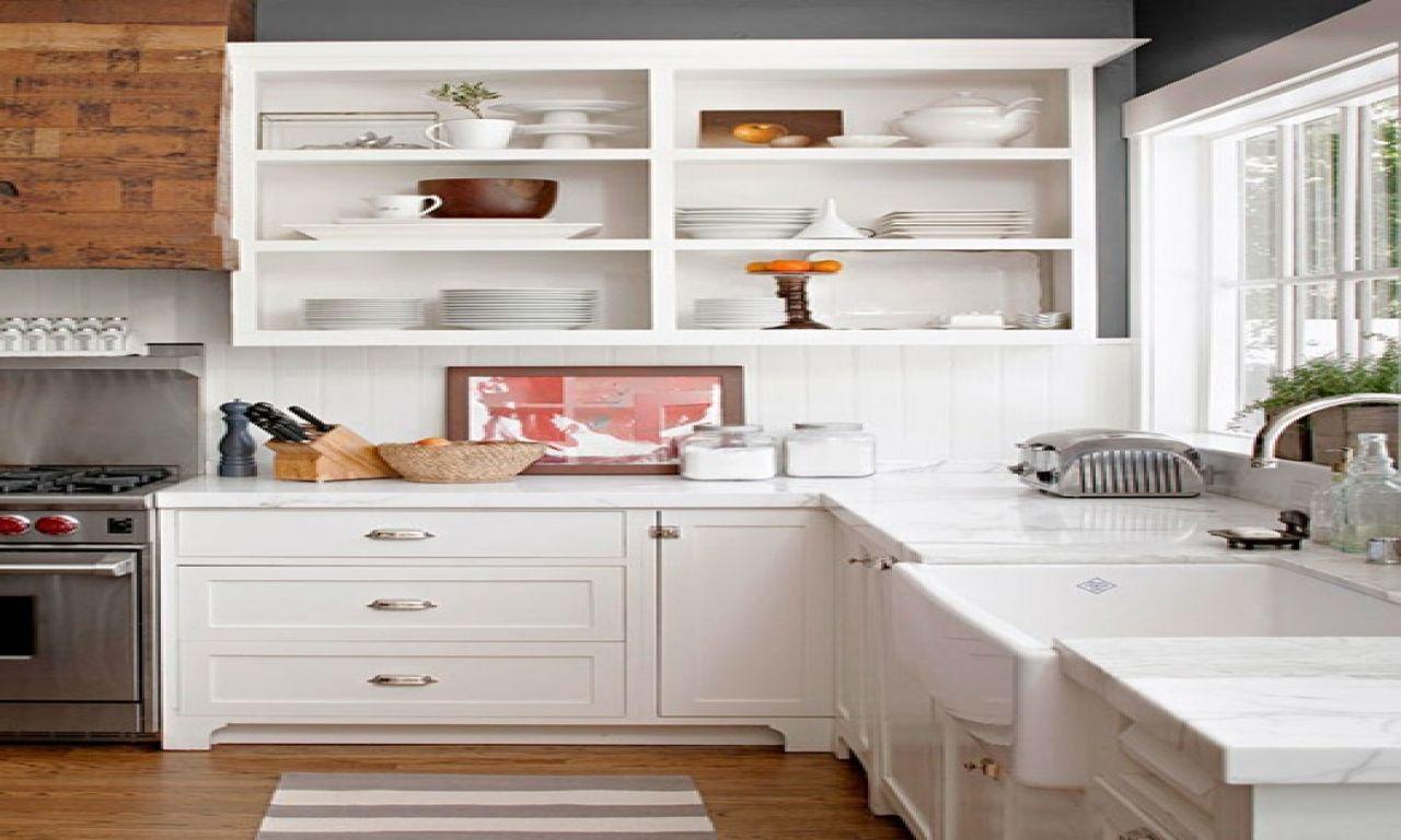 Rustic Kitchen Cabinets - Open White Kitchen