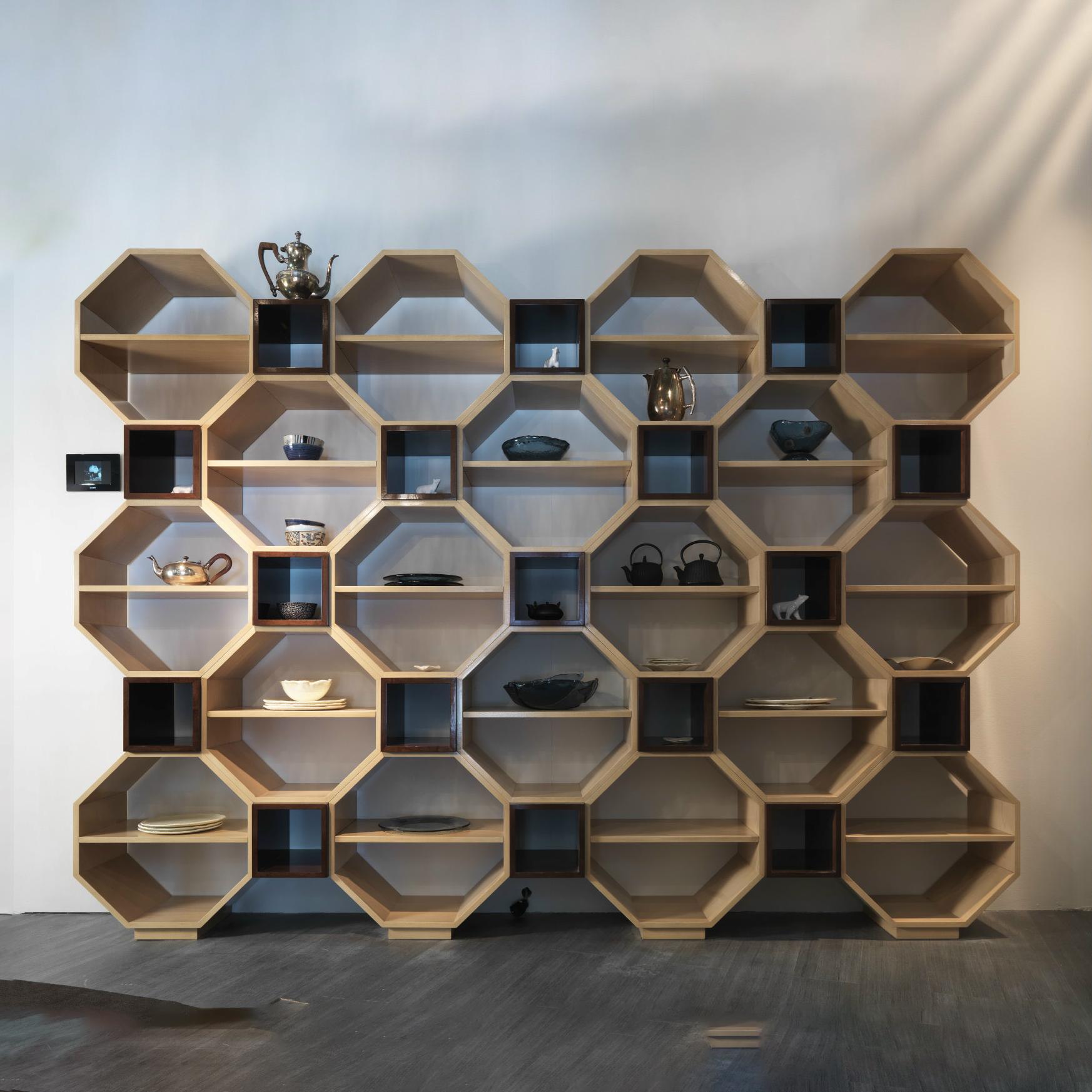 Hexagonal Wall Shelf - Original racks and shelves to living room