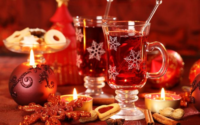Christmas Punch - Punch and Candels