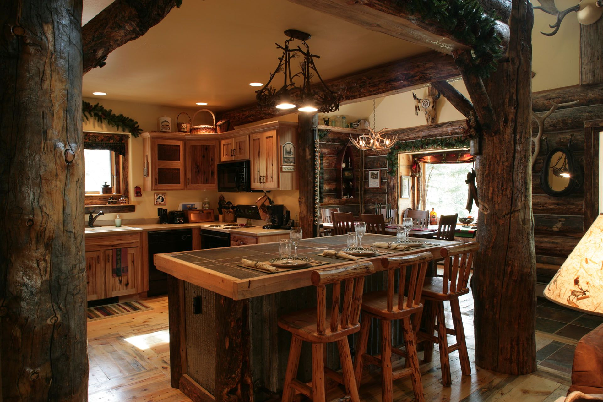 Rustic Kitchen Cabinets - Rustic Wooden Kitchen cabinet