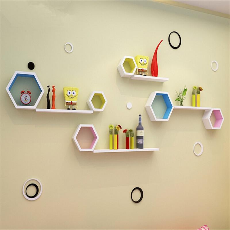Hexagonal Wall Shelf - Set of 3 pieces for Wall Shelves with hexagonal shape
