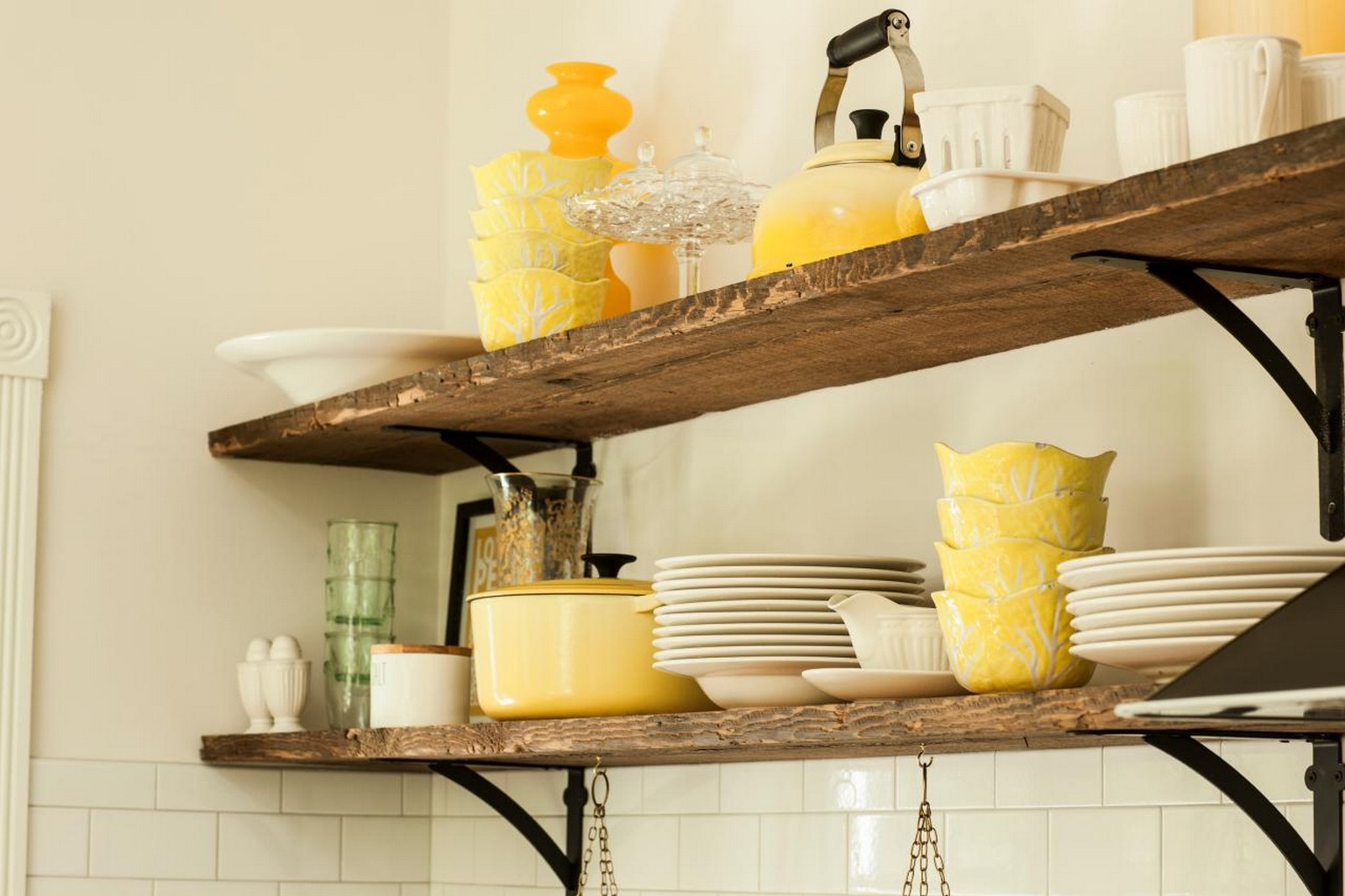 Rustic Kitchen Cabinets - Style Shelve Kitchen cabinet