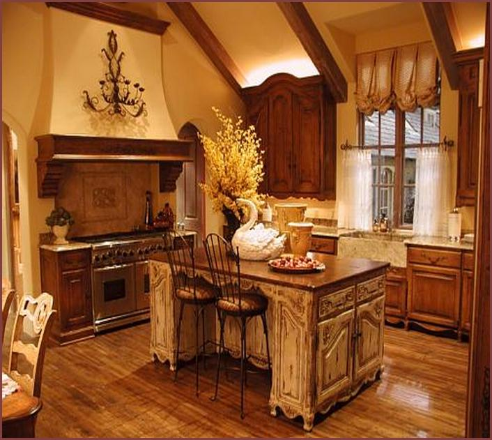 Rustic Kitchen Cabinets - Tuscan Kitchen Style