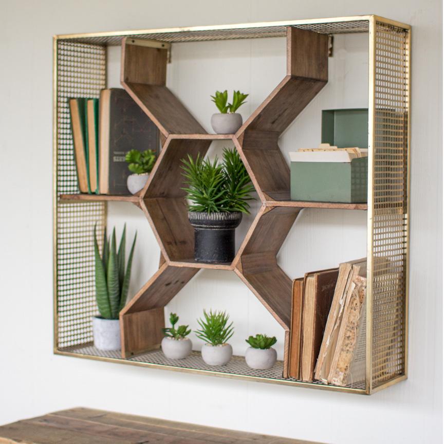 Hexagonal Wall Shelf - Wall Shelves Design Inspiration
