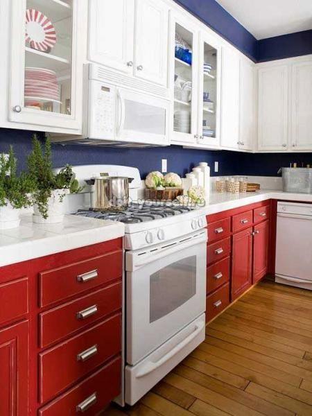 blue kitchen walls ideas