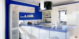 blue kitchen walls designs
