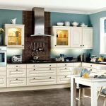 amazing blue kitchen walls