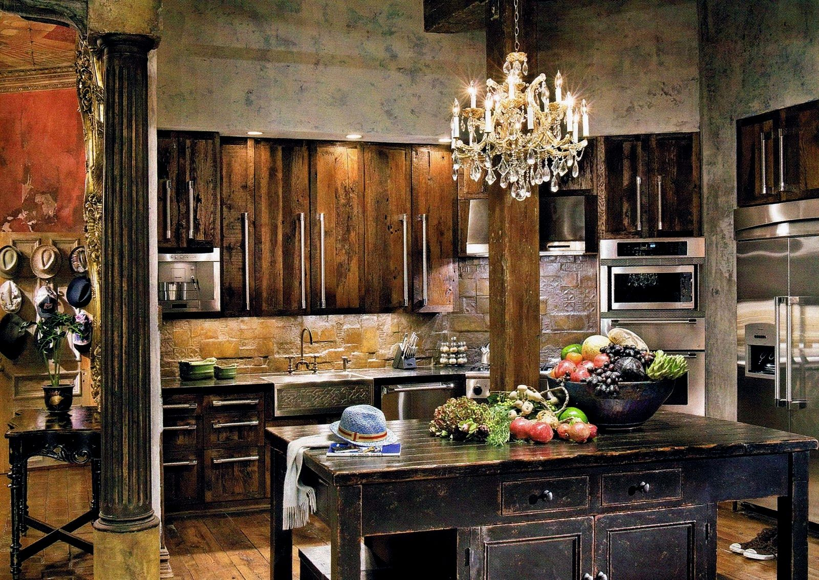 Rustic Kitchen Cabinets - fascinating cherry wood cabinets kitchen décor