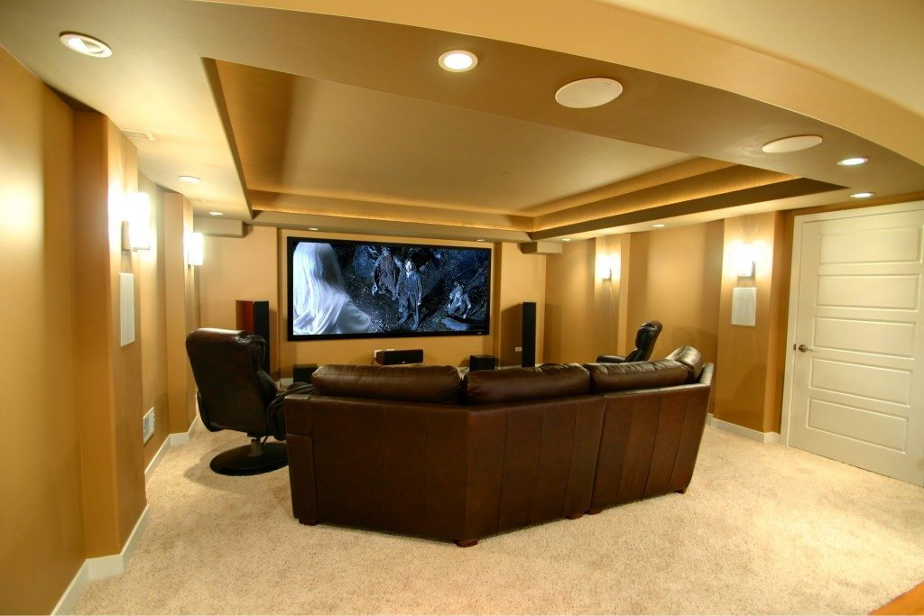man cave finished basement ideas