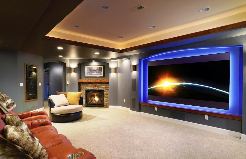 cool finished basement ideas 17