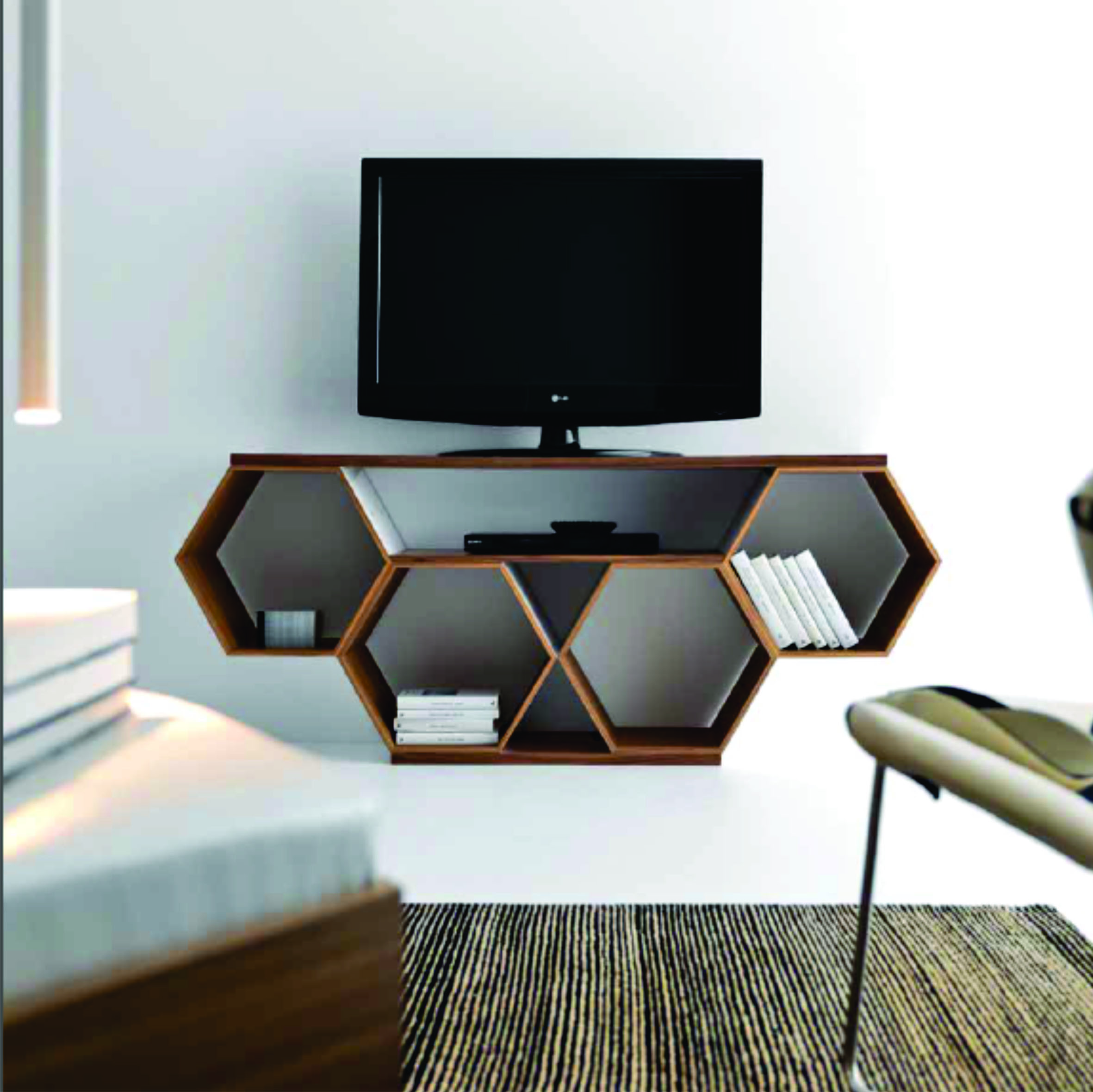 Hexagonal Wall Shelf - hard-working insects they spread from hexagons whole