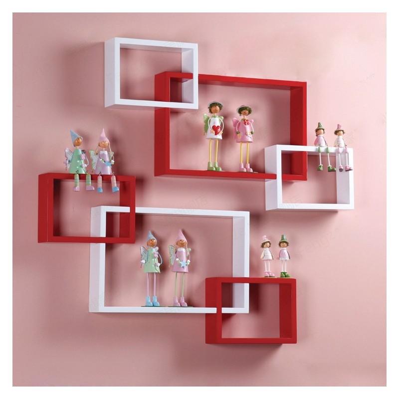 Hexagonal Wall Shelf - kids honeycombs