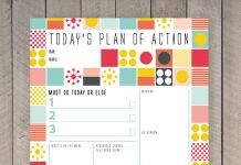 Daily Planner Printable - printable day planner