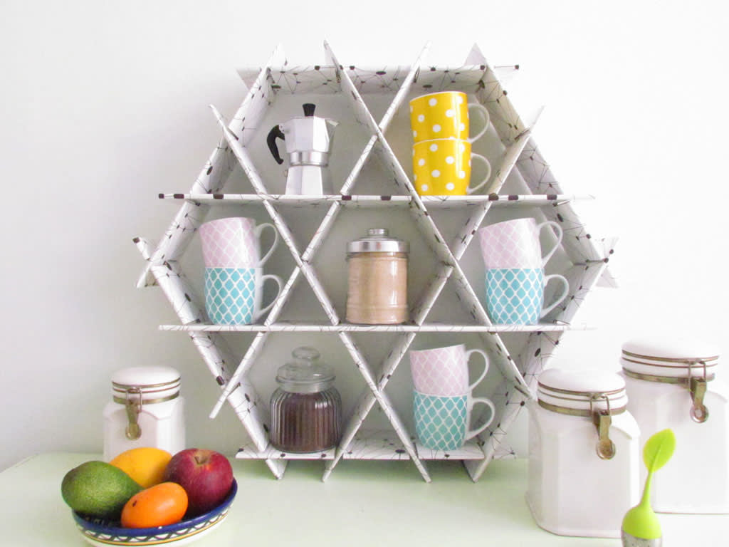 Hexagonal Wall Shelf - shelves for all occasions