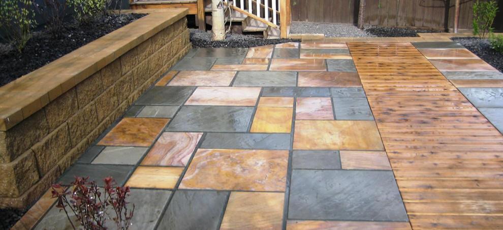 new stone patio ideas