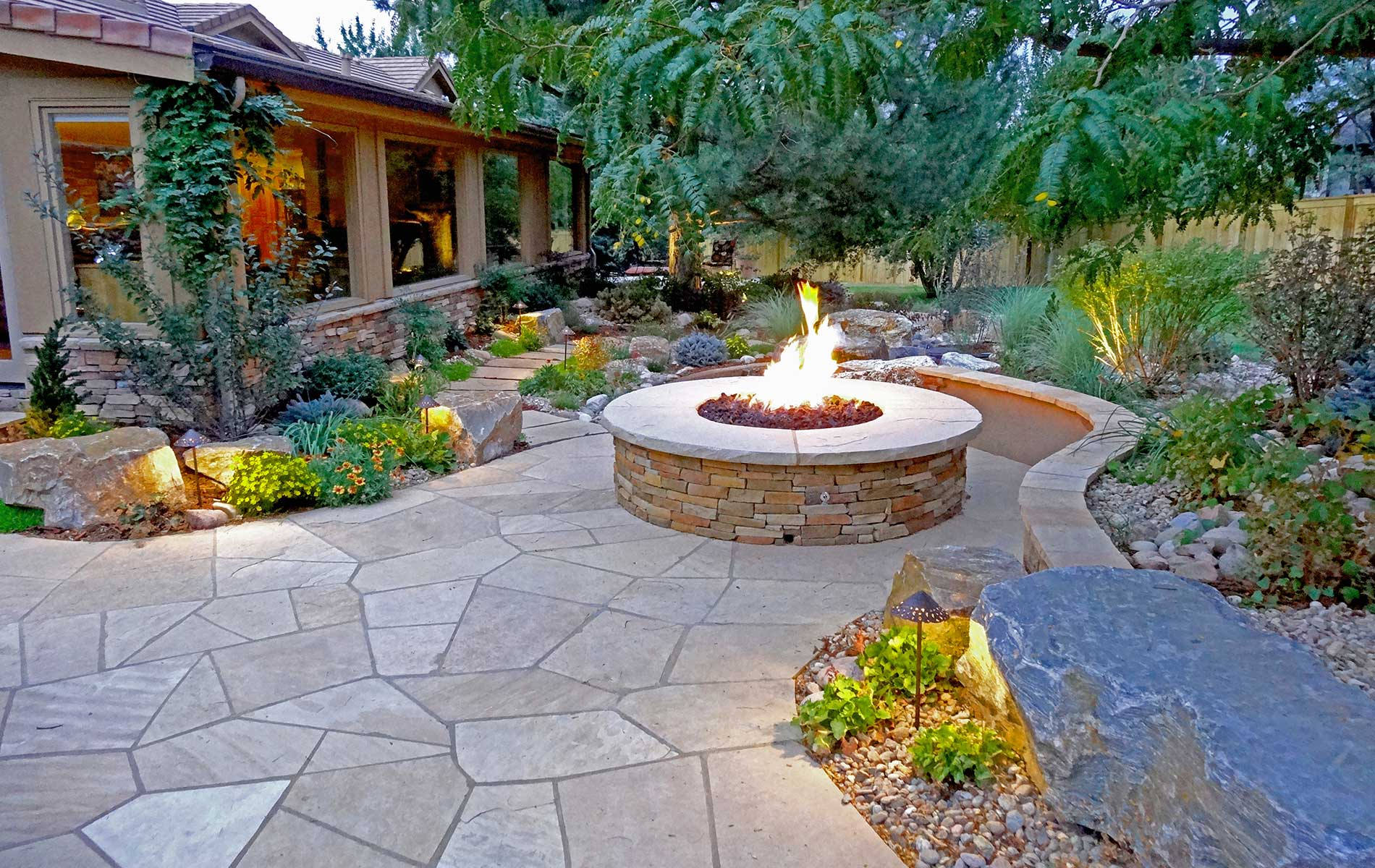 Best Stone Patio Ideas, Designs and Installation Tips ... on Backyard Masonry Ideas id=91279