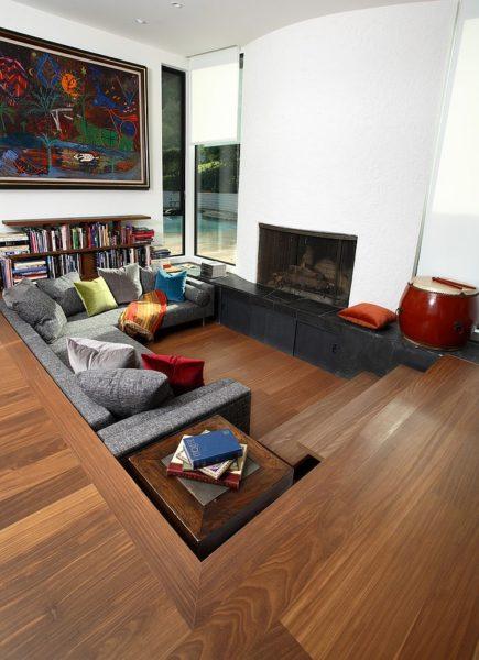 amazing sunken living room