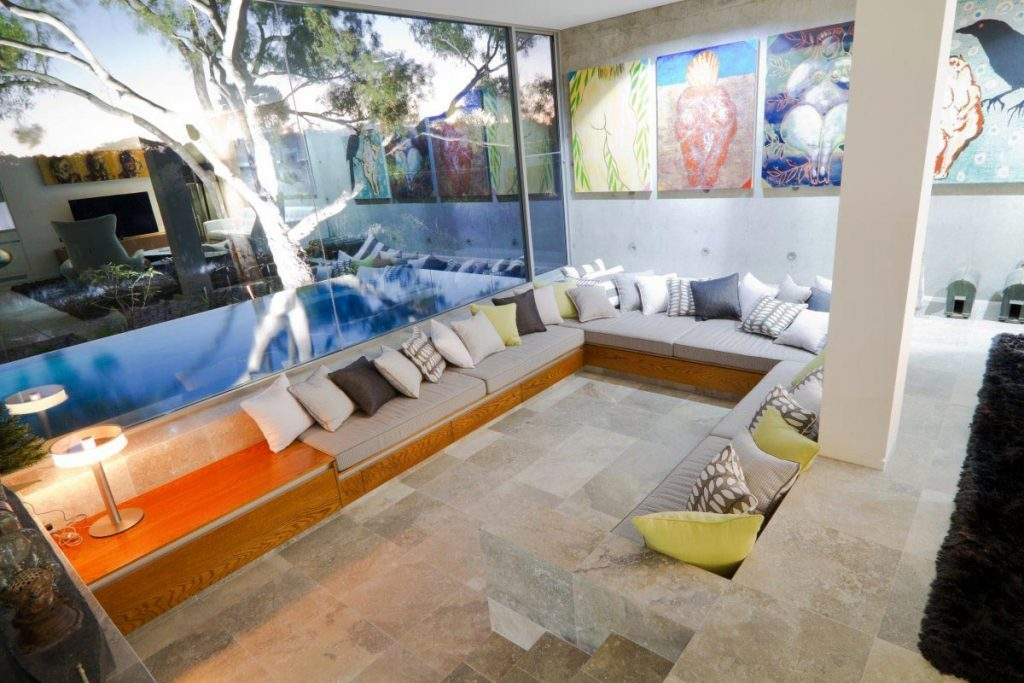cool sunken living room
