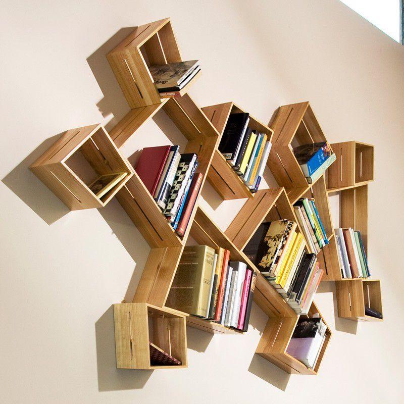 Hexagonal Wall Shelf - unordinary hexagonal shape