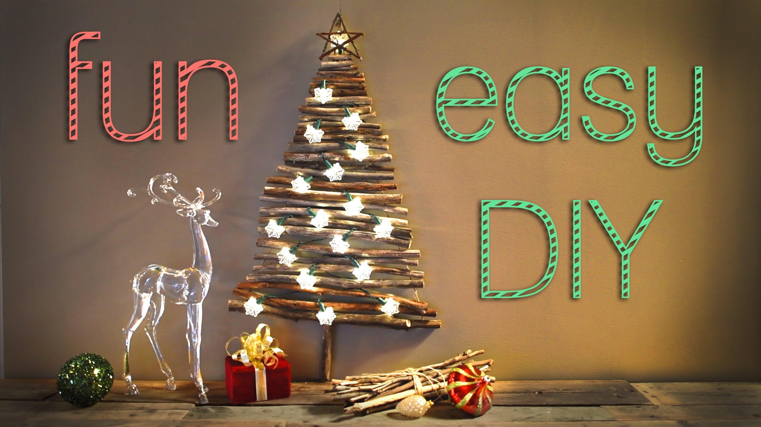 amazing christmas wall decor ideas - Diy Christmas Decorations 2017