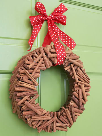 Cinnamon Christmas wreath ideas