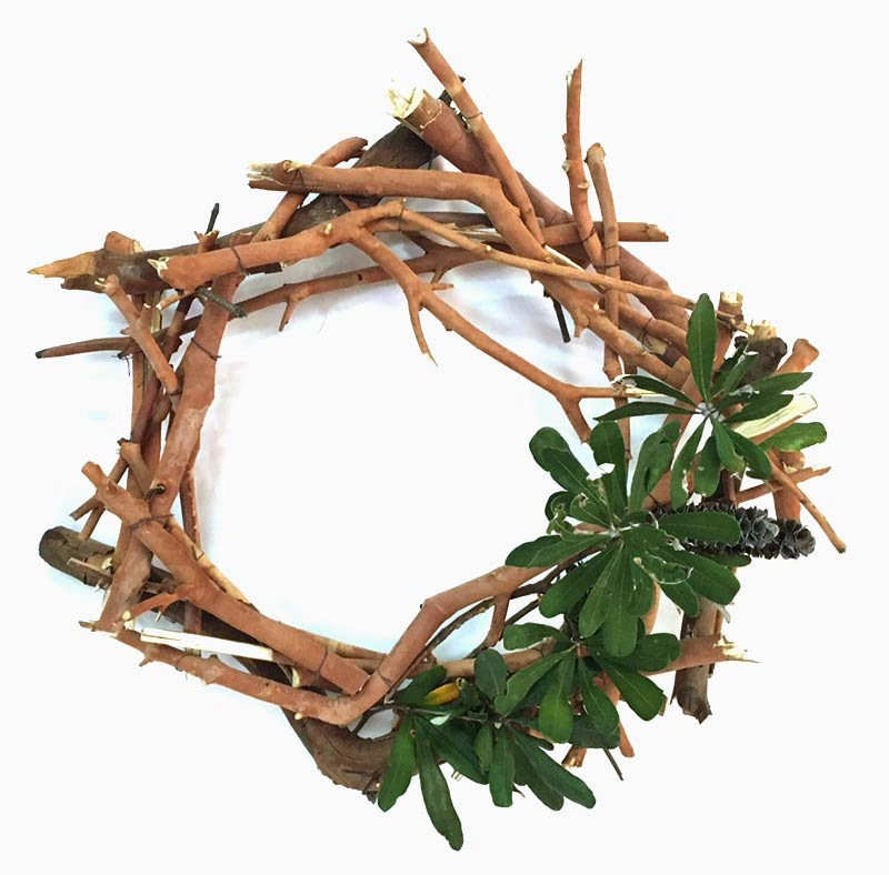 Dry twigs Christmas wreath ideas